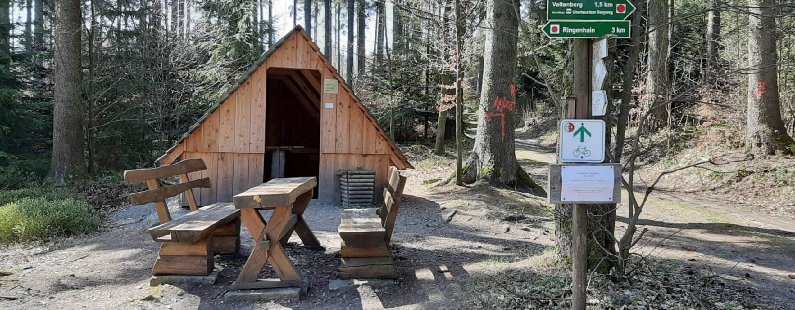 schutzhütte 2 ©Schutzhütte auf dem Weg zum Valtenberg Foto: Gemeindeverwaltung Neukirch/Lausitz